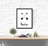 Personalised Scandinavian Arrows - Nursery Print - Krafty Hands Designs
