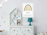 Personalised Colourful Rainbow Room Name - Nursery Print - Krafty Hands Designs
