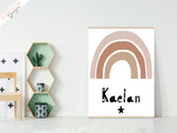 Personalised Rainbow -Nursery Print - Krafty Hands Designs