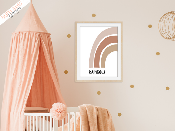 Rainbow - Nursery Print - Krafty Hands Designs