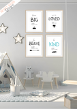 Scandinavian - You Are - Set of 4- Nursery Prints - Krafty Hands Designs