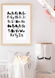 Scandinavian Alphabet - Nursery Print - Krafty Hands Designs