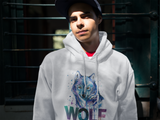 Wolf - Men's Hooded Sweatshirt - Krafty Hands Designs