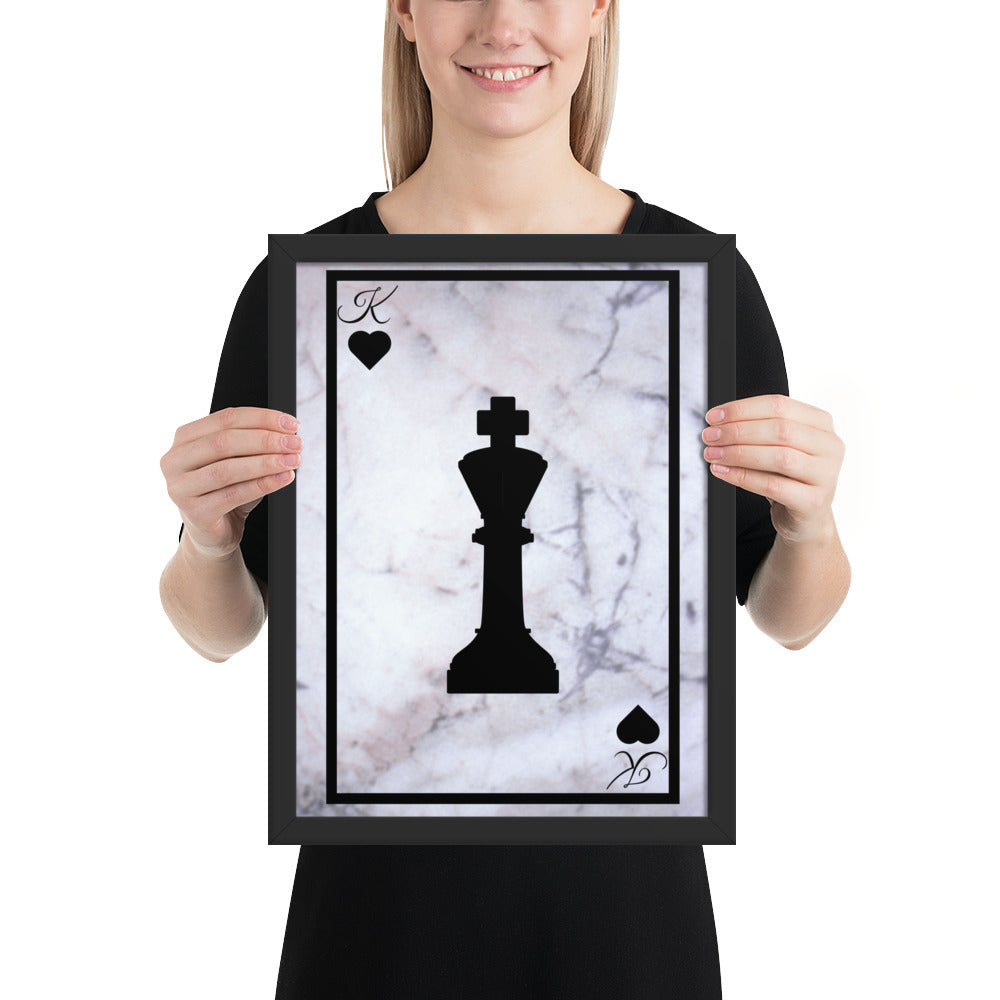 King Chess - Framed poster - Krafty Hands Designs
