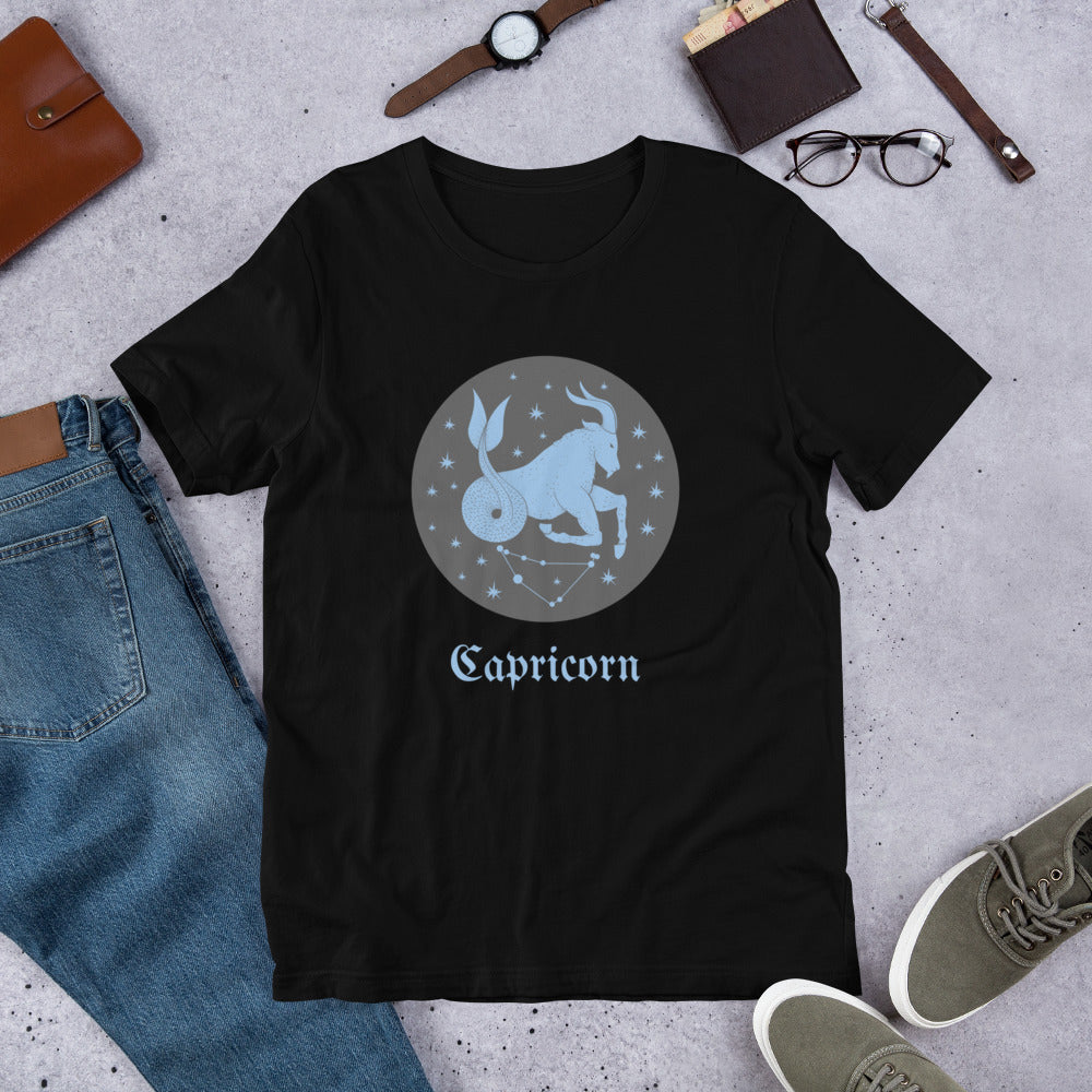 Capricorn - Short-Sleeve Unisex T-Shirt - Krafty Hands Designs