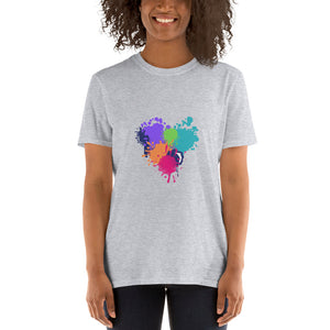 Paint Splat Heart - Short-Sleeve Women's T-Shirt - Krafty Hands Designs