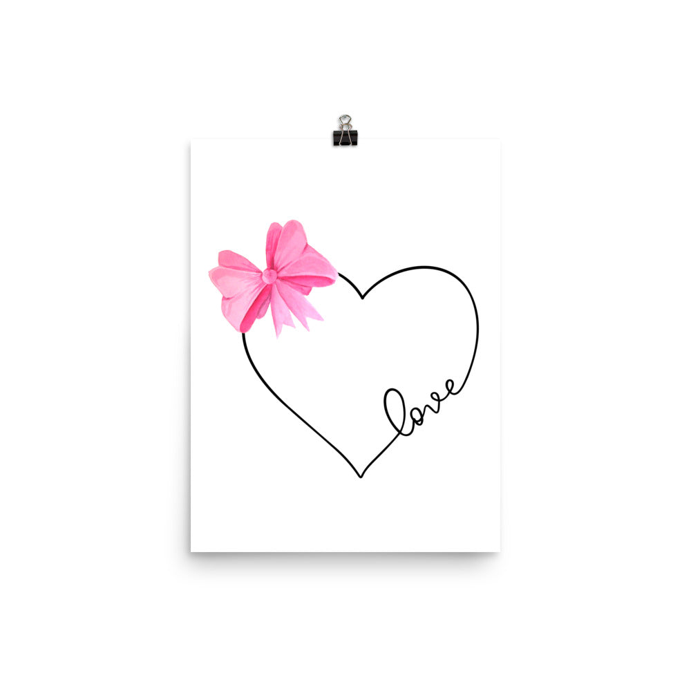 Love Heart - Pink Print - Krafty Hands Designs