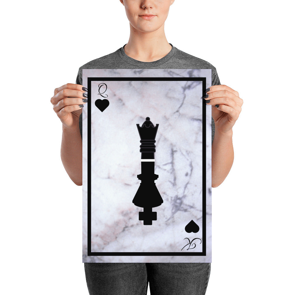 King & Queen - Black Border - Poster - Krafty Hands Designs