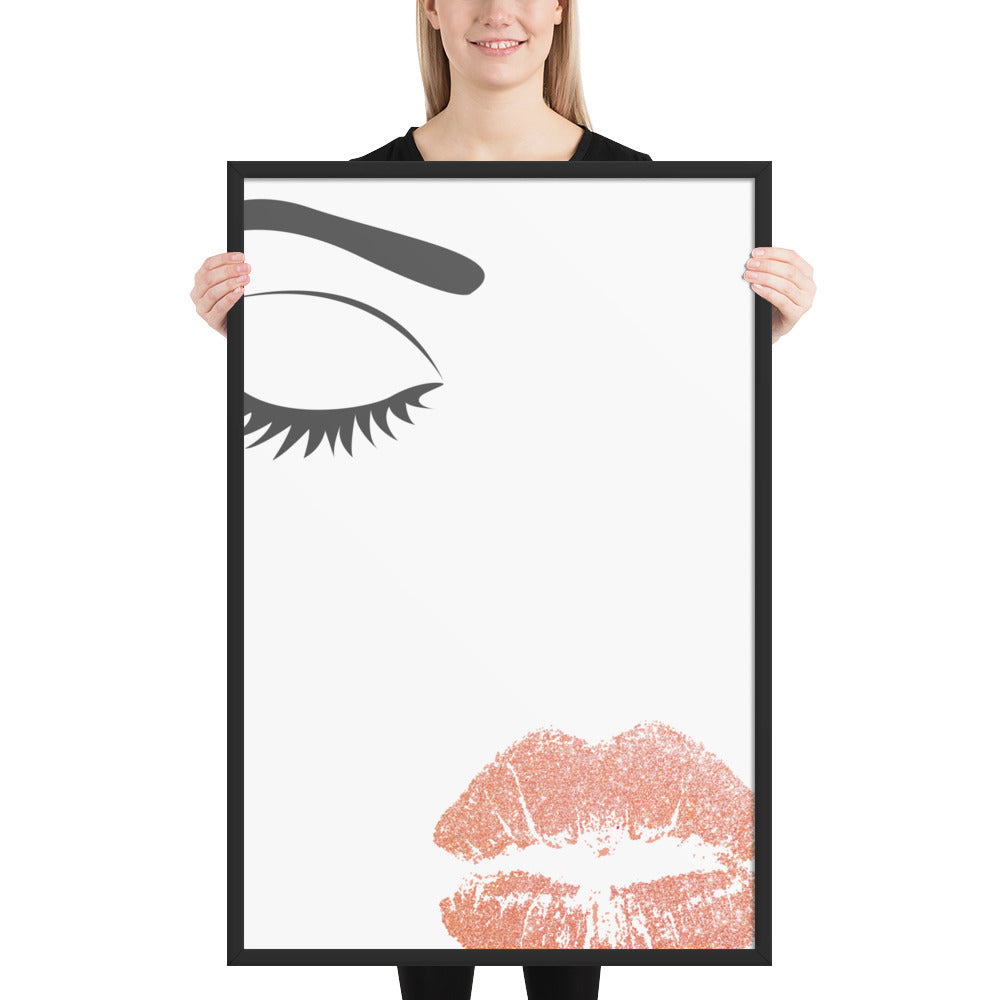 Beauty - Framed poster - Krafty Hands Designs