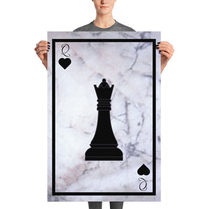Queen of Hearts Chess - Poster - Krafty Hands Designs