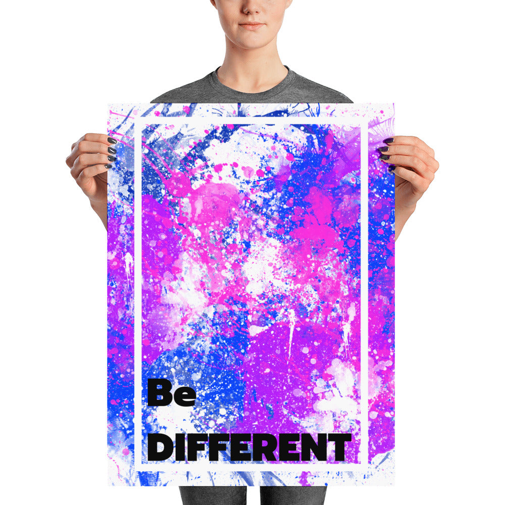 Be Different - Poster - Krafty Hands Designs