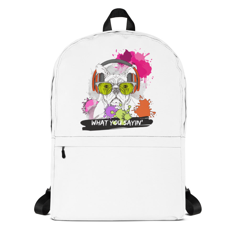 What You Sayin' - Backpack - Krafty Hands Designs
