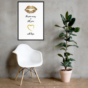Kiss The Pain Away - Framed poster - Krafty Hands Designs
