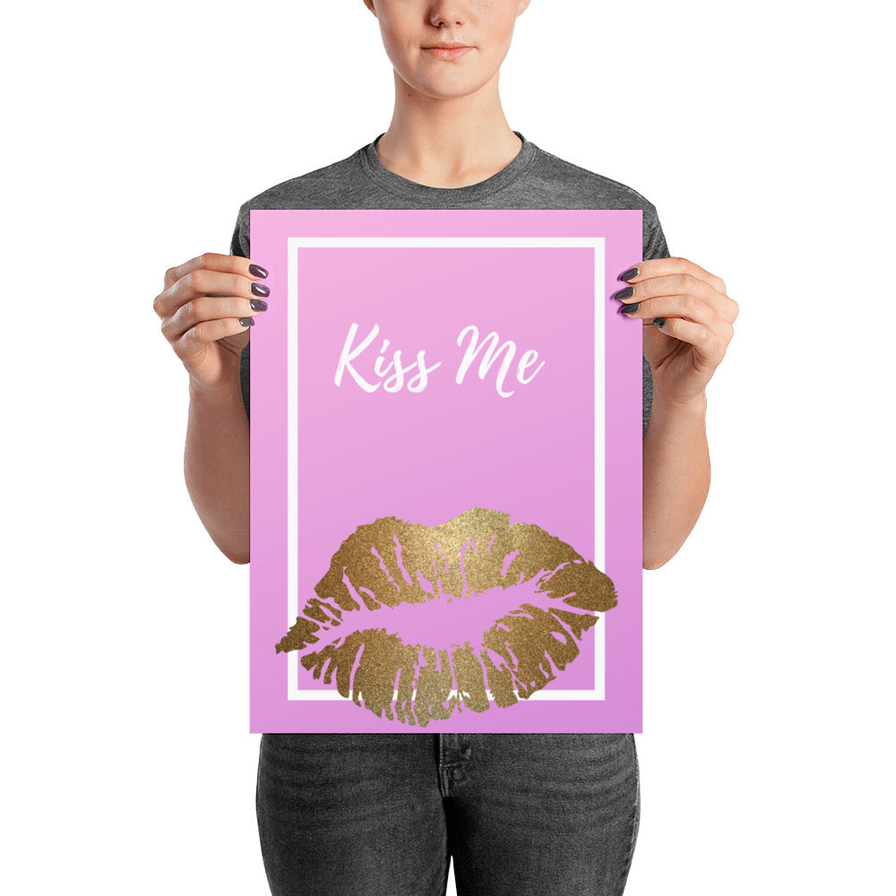Kiss Me - Poster - Krafty Hands Designs