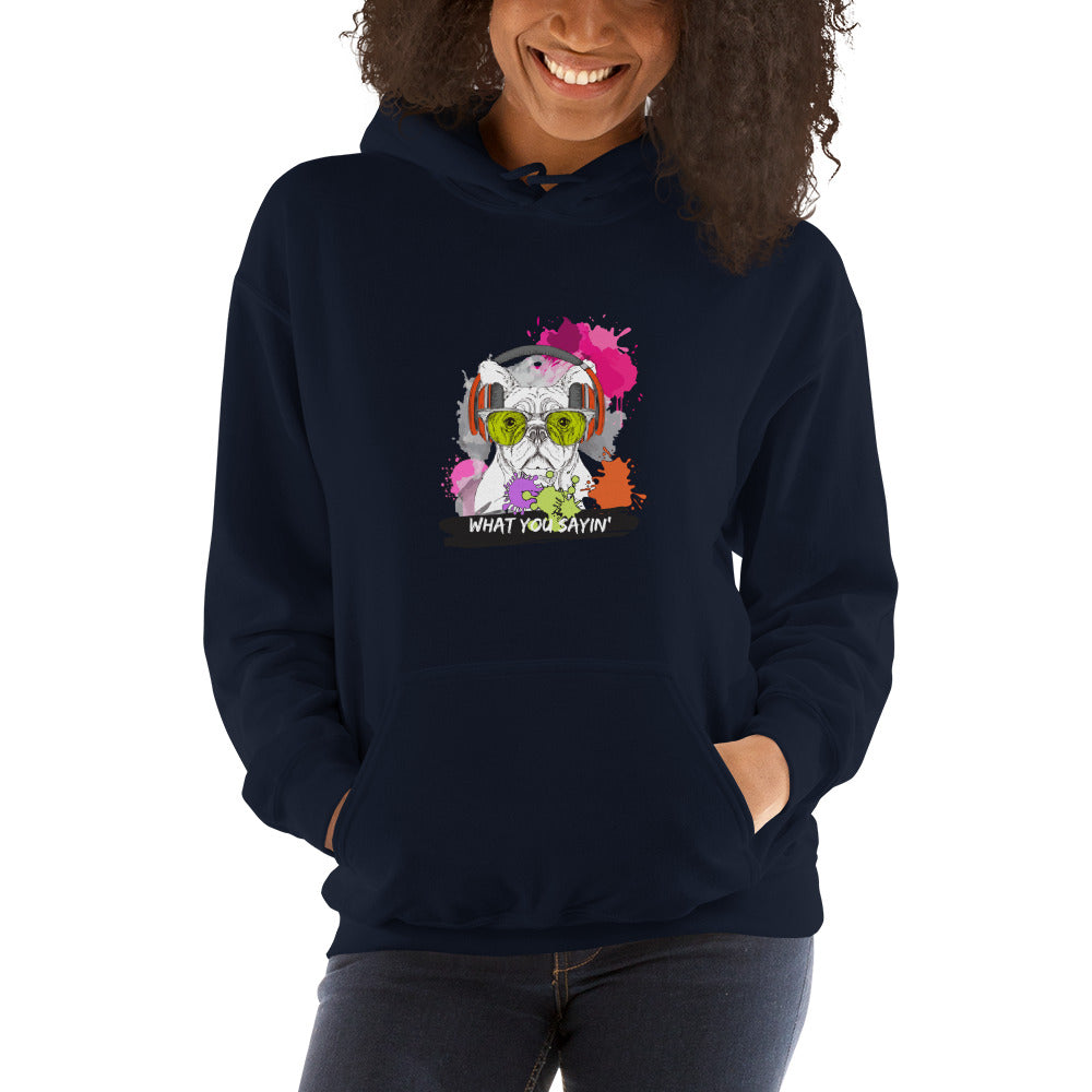 'What you Sayin' - Hooded Women's Sweatshirt - Krafty Hands Designs