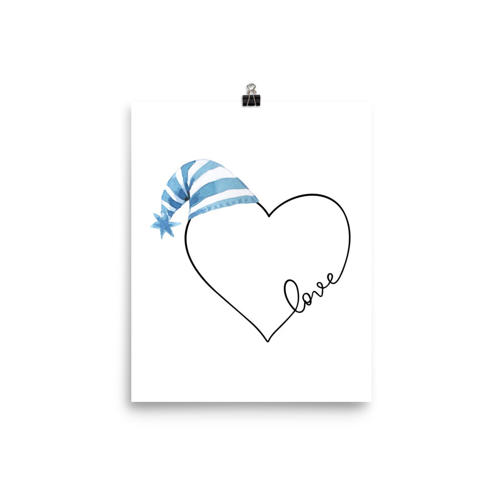 Love Heart - Blue Print - Krafty Hands Designs