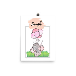 Laugh Nursery Print - Krafty Hands Designs