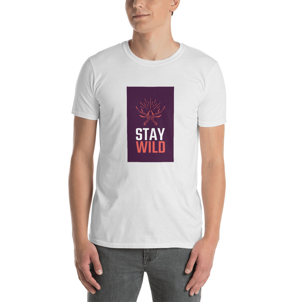 Stay Wild - Short-Sleeve Men's T-Shirt - Krafty Hands Designs