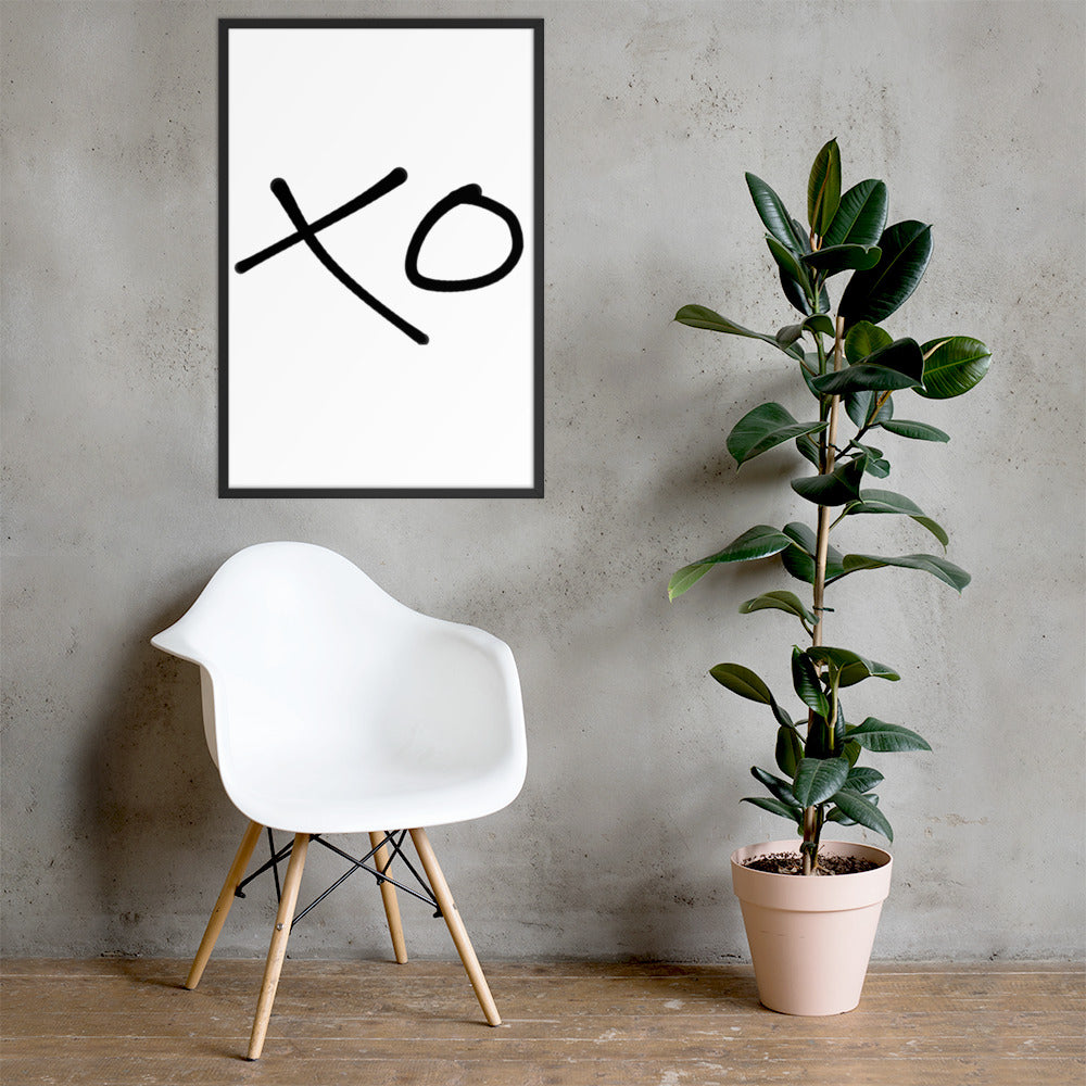 XO - Framed Poster - Krafty Hands Designs