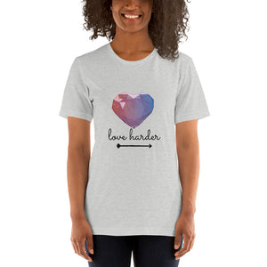 Love Harder - Short-Sleeve Women's T-Shirt - Krafty Hands Designs
