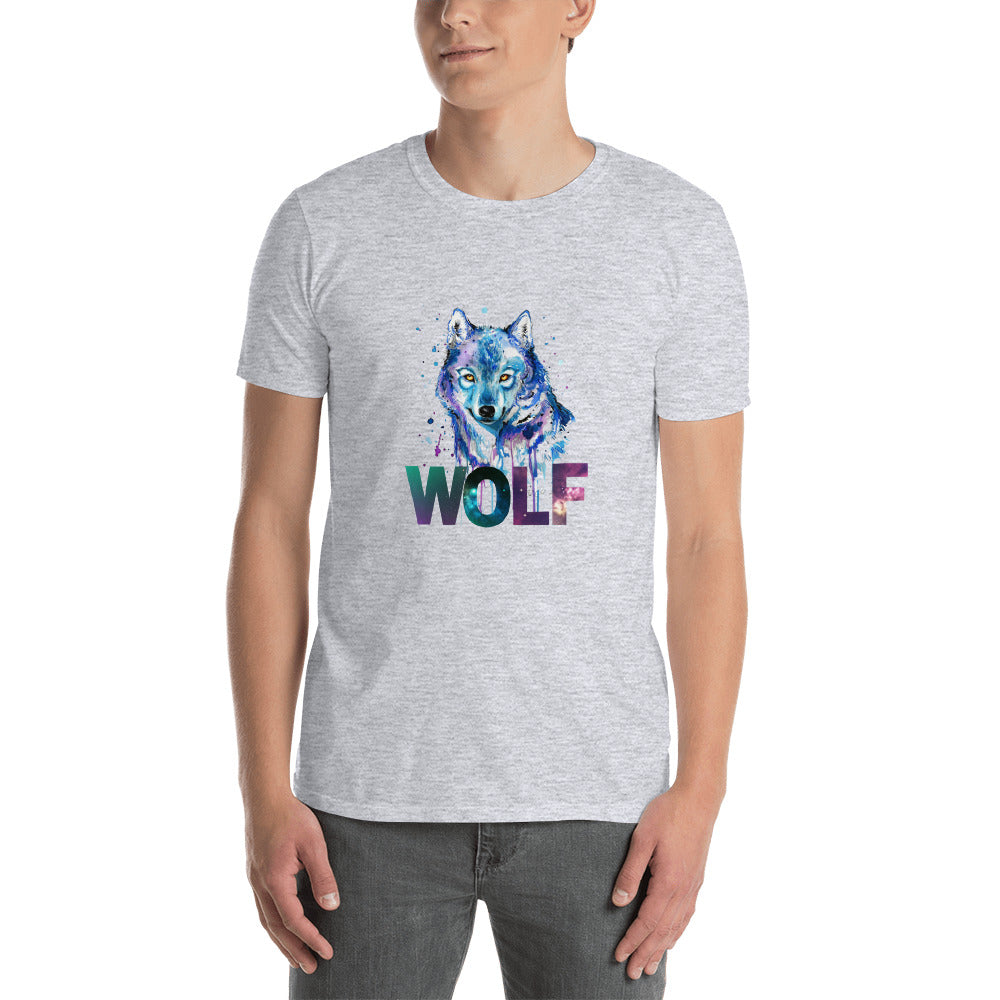 Wolf - Short-Sleeve Men's T-Shirt - Krafty Hands Designs