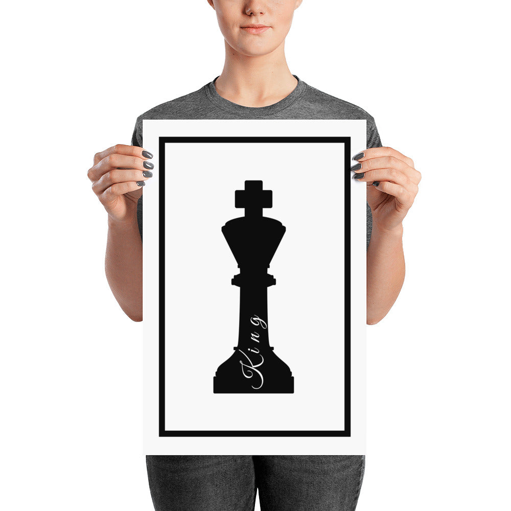 King Chess - Poster - Krafty Hands Designs