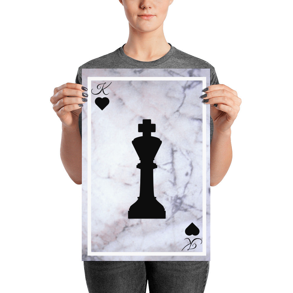 King of Hearts Chess - Poster - Krafty Hands Designs