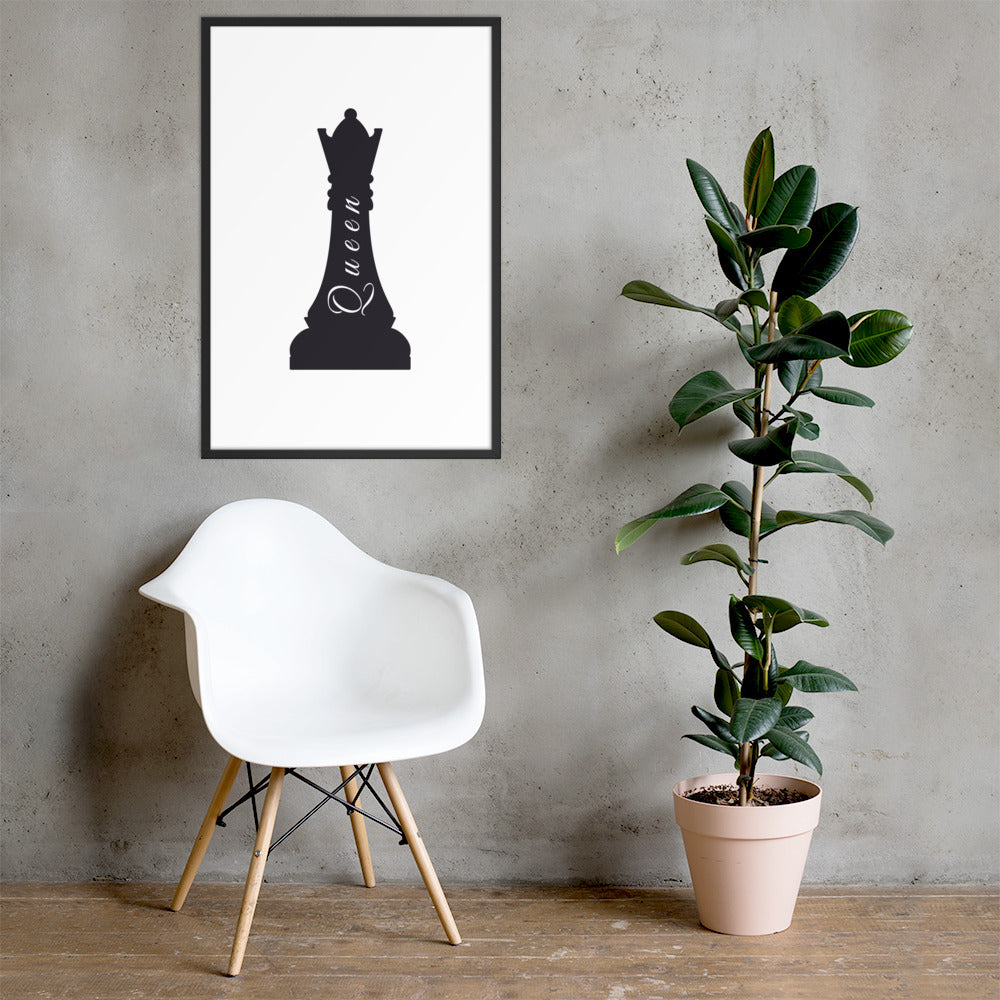 Queen Chess - Framed Poster - Krafty Hands Designs