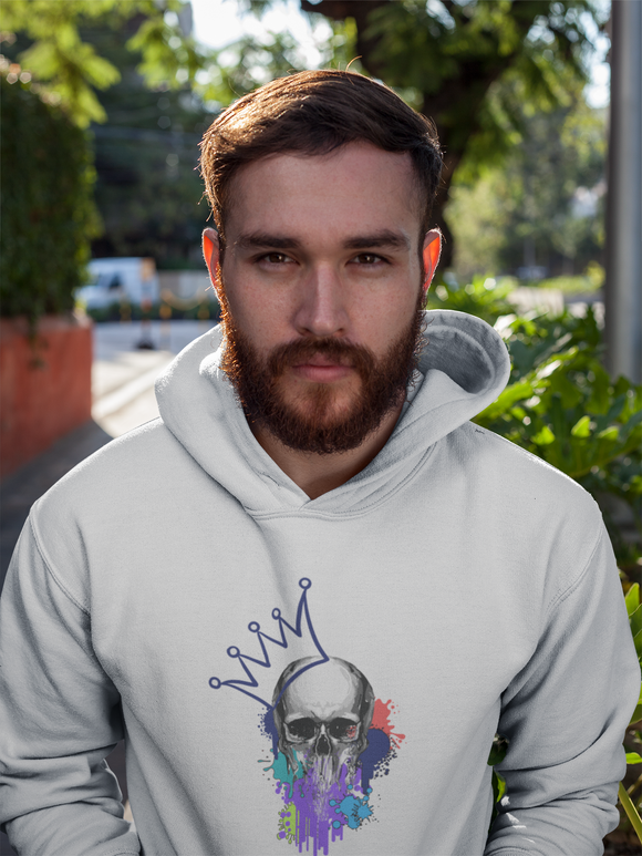 Skull King - Hooded Men's Sweatshirt - Krafty Hands Designs