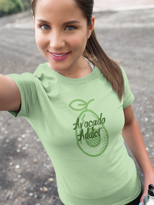 Avocado Addict - Short-Sleeve Women's T-Shirt - Krafty Hands Designs