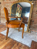 Antique French Leather Bridge Chair