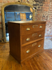 Beautiful Oak Planners Chest Of Drawers