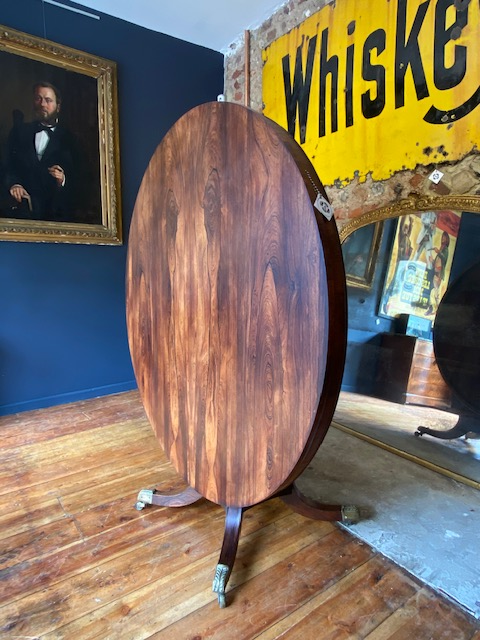 Exceptional Early Regency Rosewood Tilt Top Table
