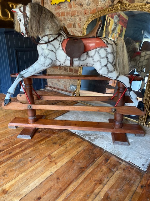 Uber Rare Early G & J Lines 1880's Rocking Horse. Spectacular Example