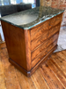 Exceptional 1830's Louis Philippe Parisian Diminutive Size Uber Rare Green Marble  African Flamed Mahogany Commode