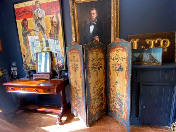 Fabulous Victorian Modesty Screen Circa 1880