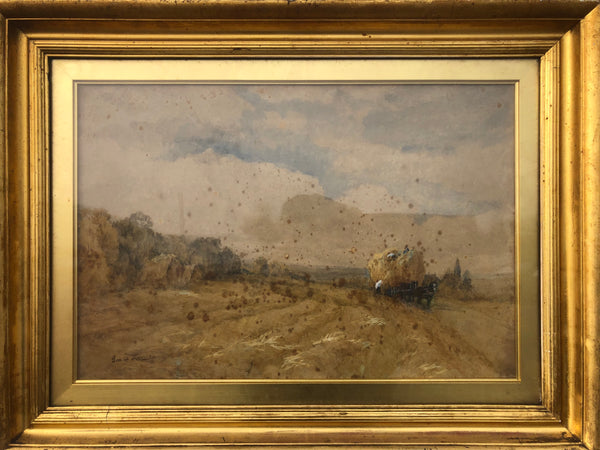 "Watercolour Picture By George Lucas ""Harvesting"" 1863 -1899"
