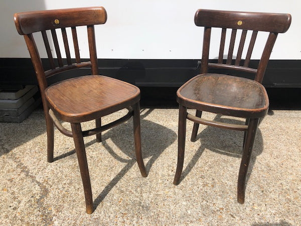 A stunning pair of Michael Thonet Bresso No 788 chairs from 1890's