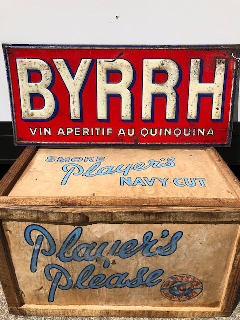 1930's French Metal Advertising Sign
