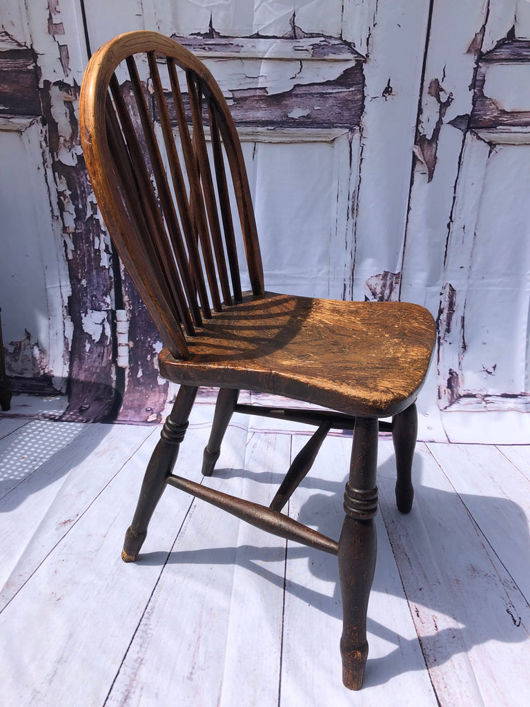 Early Antique Windsor Hoop Back Chair Circa 1860