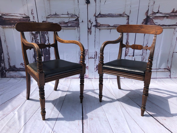 A Beautiful Pair Of Georgian Elbow Chairs Circa 1820