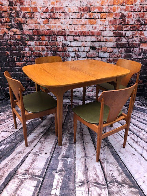Mid Century Danish Inspired Dining Set By Elliots Of Newbury