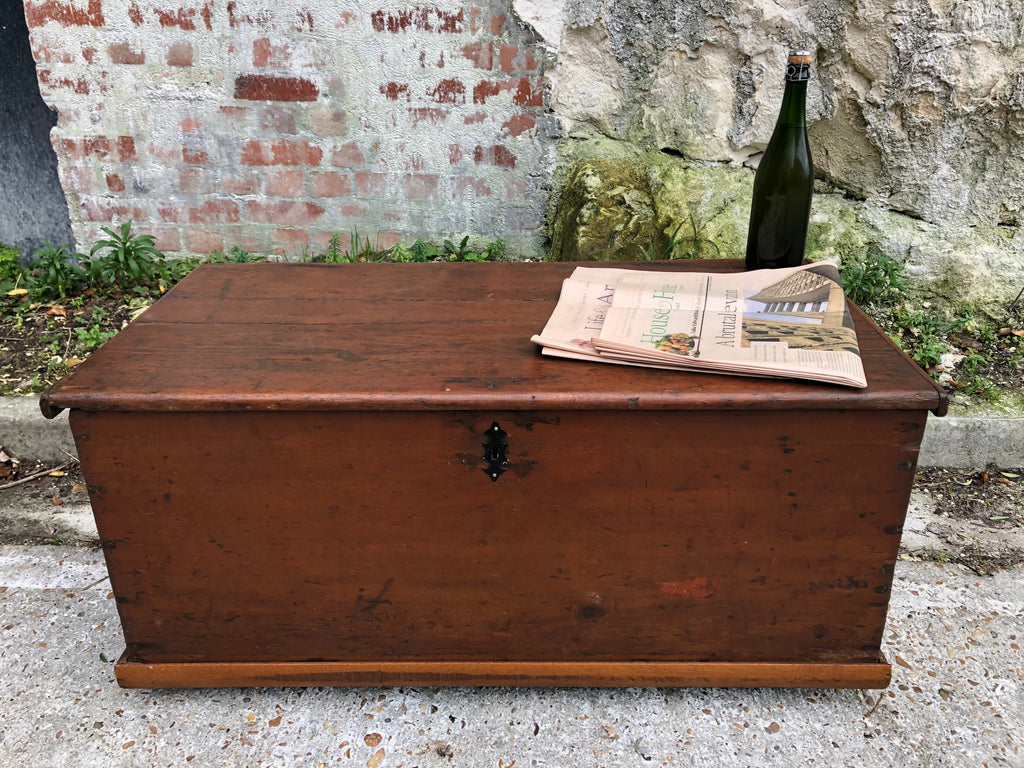 Antique Victorian French Chest/Trunk Blanket Box