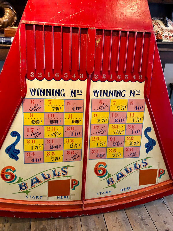 "Unique Antique Brighton Pier ""6 Balls"" Fair Game"