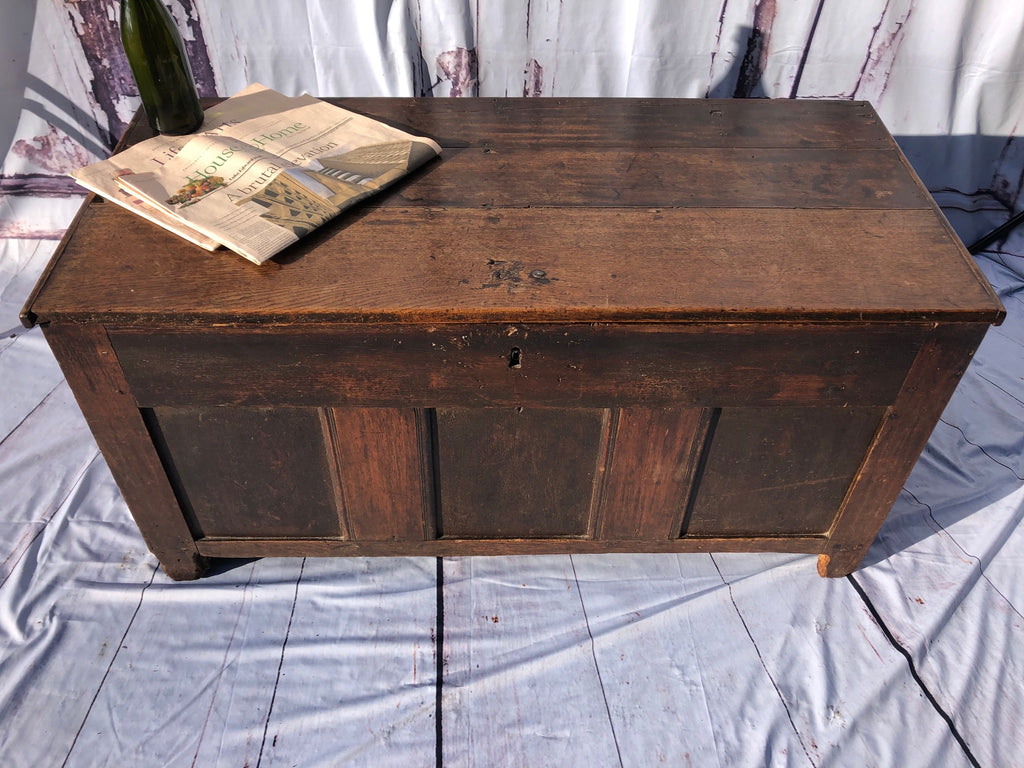 Fabulous Early 17th Century Oak Boarded Chest/Coffer
