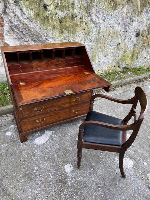 Stunning Early Georgian Flame Mahogany Bureau
