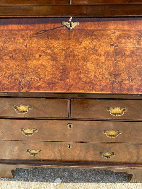 George I Walnut Bureau Circa 1720. Very Rare Diminutive Size.