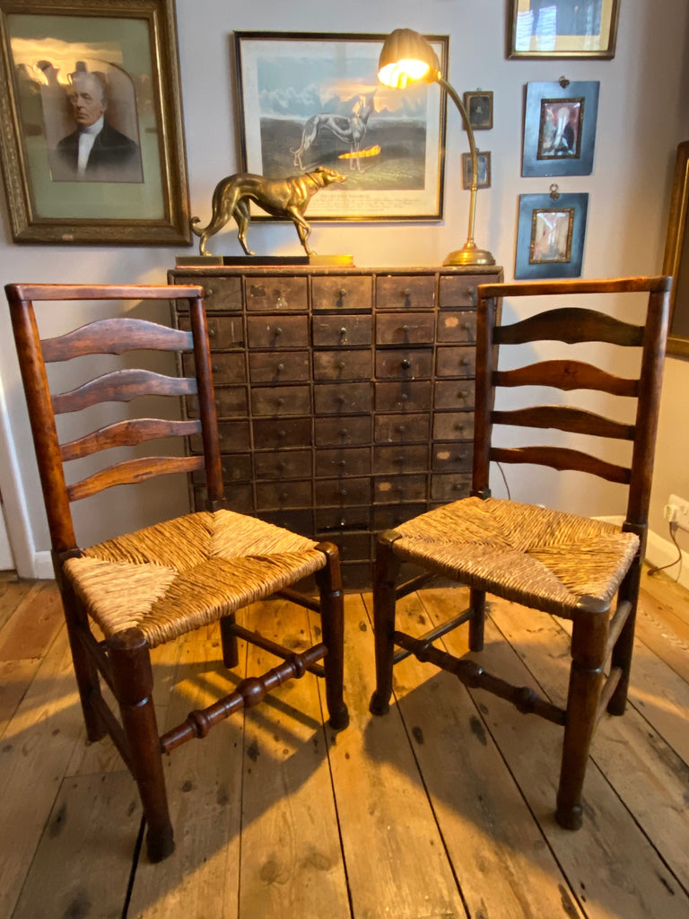 Superb Pair Of Rare Early Macclesfield Country Chairs