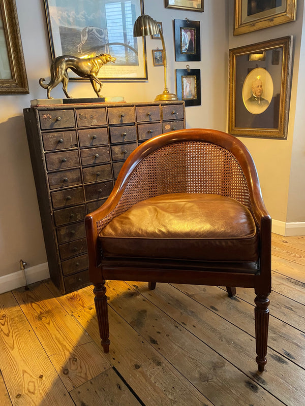 An Exceptional Library Chair In The Regency Style Of  Gillows