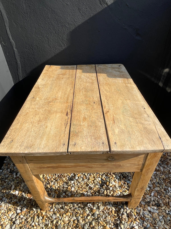 Antique Elm Kitchen Preparation Table